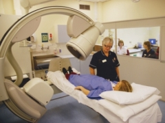 A photograph of someone having a scan