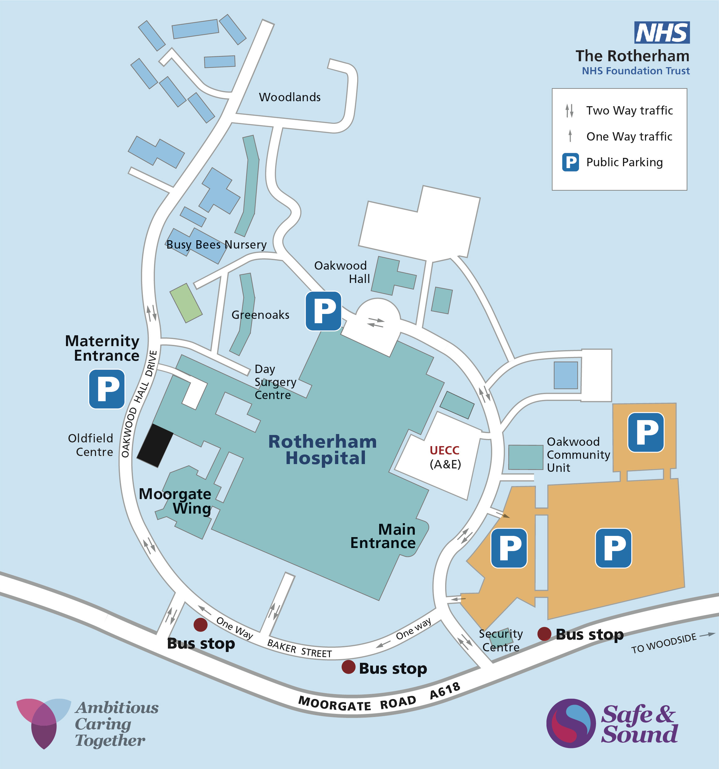 Hospital site map 2019